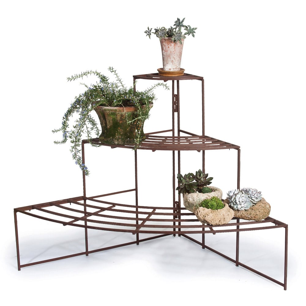 Elevated Flower Pot Stand Holder with Shelf Multi-Color Metal Frame LZY Rui Wrought Iron Plant Stand Indoor Outdoor Raised Rectangular Planter Box