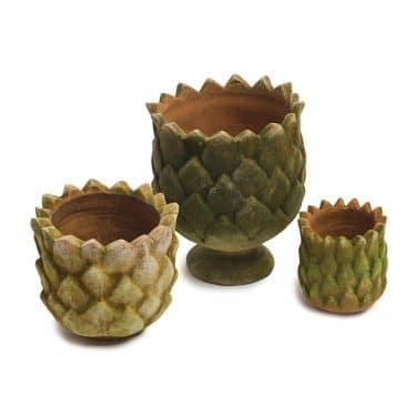 Aged Pine Cone Pot