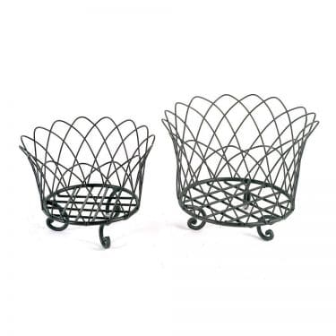 French Wire Basket with Feet