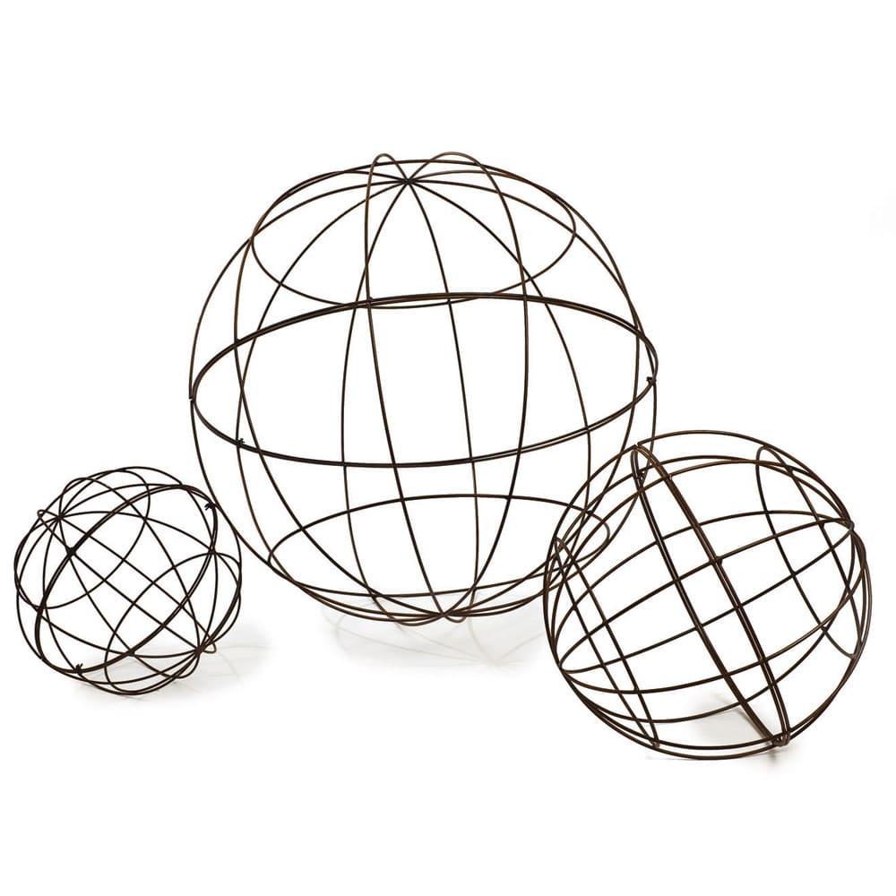 Wire Balls Campo De Fiori Naturally Mossed Terra Cotta