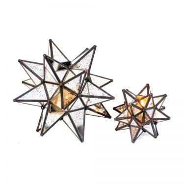 Star Antique Mirror & Copper Votive