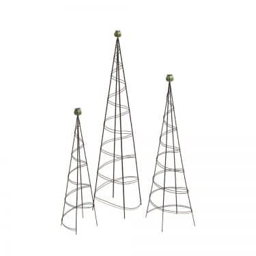 Wire & Bronze Poppy Topiary Trellis