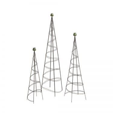 Wire & Bronze Poppy Topiary Trellis
