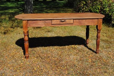 ROUNDED ENDS TABLE - 1 Drawer